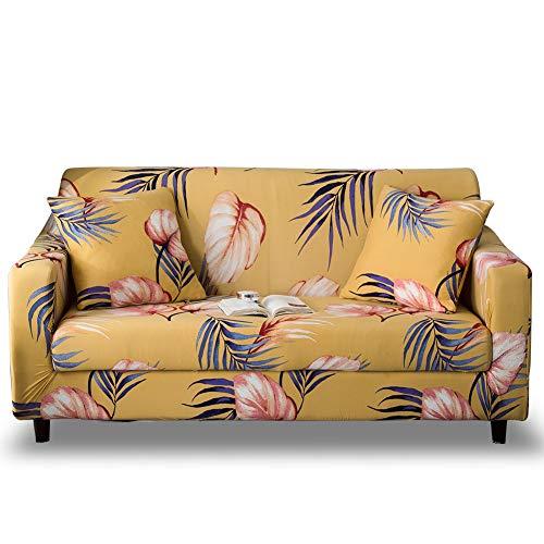 HOTNIU Funda Sofa 2 Plazas Fundas de Sofa Elasticas Fundas para Sofá Ajustables Estampada Cubre Sofa con 1 Funda de Cojín, Dos Plazas, Impresión #Wy