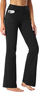 SEVEGO Pantalones de Yoga Bootcut para Mujer con 4 Bolsillos, 74cm/78cm/84cm/90cm Entrepierna, Pequeño/Regular/Alto Pantal...