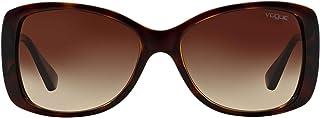 VOGUE Women's 0Vo2843S W65613 56 Sunglasses, Havana/Brown Gradient