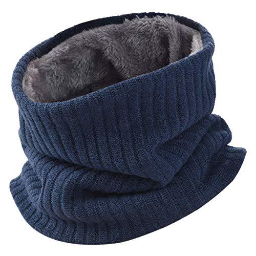 HIDARLING Invernale Berretti in Maglia con Sciarpa Invernale Beanie Set Cappello in Lana Sintetica Calda per Uomo/Donna (Marina Militare)