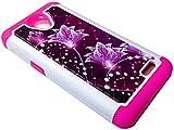 for ZTE ZFive2 ZFive 2 Z837VL Z836B ZTE 828 / Avid Trio Sonata 3 Maven 2 Midnight Pro Sparkle Bling Case Phone Cover + Gift Stand (Sparkle Purple Lotus)