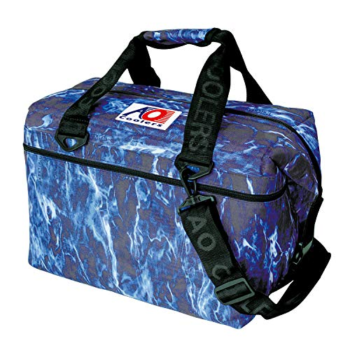 AO Coolers Elements Soft Cooler, 24 Pack, Bluefin, Blue Camo, 24 Pack
