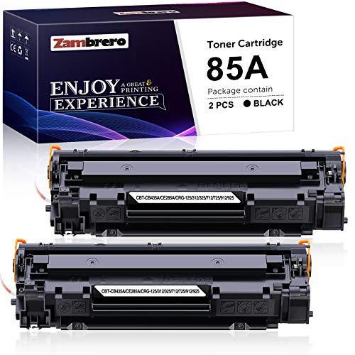 Zambrero CE285A 85A Cartucho Tóner Compatible para HP Laserjet Pro P1102W P1102 P1005 P1109W P1109 P1100 P1006 P1108 M1132...