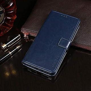 LENASH För Huawei ära x10 Max horisontellt flip läderfodral med hållare & kortplatser och plånbok. Fallskydd (Color : Dark...