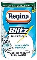 Regina Blitz Carta Casa, Confezione da 1 Rotolo, 100 Maxi-Fogli a 3 Veli, Confezione in Carta Riciclabile, Pulisci e...