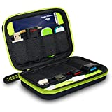 Made of Waterproof, Shockproof, Heavy-duty and Durable Material to Made the Case a Qualified Helper in Your Life Multiple Easy Access Mesh Pockets Enables Different Size USB Flash Drives and Lines etc . Simple and effective organizer case to carry yo...