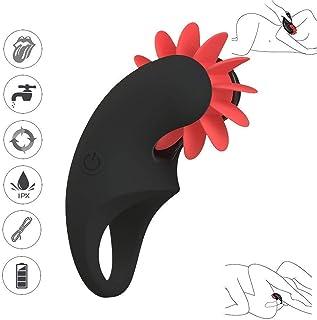Vibromasseur point G, massage par masturbateur de stimulation, ventouses clitoridiennes, sexe oral rechargeable langue douce du masturbateur féminin