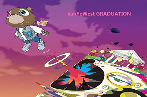 Houheiiy Kanye West-Graduation Music Album Poster 20' x 20' Cool Wall Art Gifts Decor