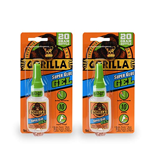 Gorilla 7700108 20 Gram 2-pack Super Glue Gel, Clear