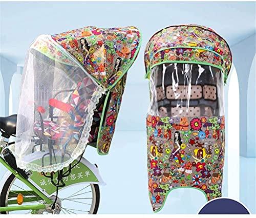 X&Y Cubierta del Asiento Trasero del niño de la Bicicleta eléctrica, Cuatro Temporadas Universal a Prueba de Viento a Prueba de Agua a Prueba de Agua con Dosel de Lluvia, sin Asiento (Color : D)