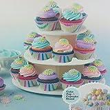 PETSOLA Cupcake Ständer, Etagere 3 Stöckig, leicht montiert für Geburtstage Hochzeiten Dekoration Werkzeuge Party - 2
