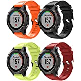 TOPsic Garmin Fenix 5 Cinturino, Braccialetto Morbido di Ricambio in Silicone per Garmin Fenix 5 / Forerunner 935 / Fenix 5 Plus Smart Watch (Non per Fenix 5X o 5S)