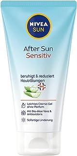 NIVEA Sun AfterSun Sensitive SOS-crèmegel (175 ml), verkoelende aftersun-gel met huidkalmerende werking, huidgel met biolo...