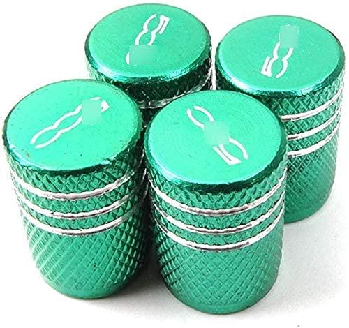 4 Piezas Neumáticos Tapas Válvulas para Fiat 500 500l 500x(Seven colors), Antipolvo Tapones de Coche Decoración Accesorios