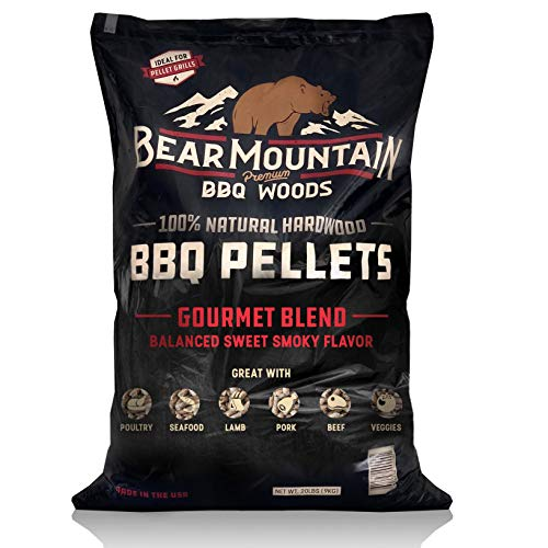 Bear Mountain BBQ 100% All-Natural Hardwood Pellets – Gourmet Blend (20 lb. Bag)