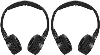KIMISS 2 Canales inalámbricos Infrarrojos IR estéreo Audio Auriculares Auriculares para Coche reposacabezas DVD