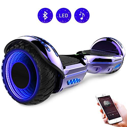 RCB Hoverboard elettrico da 6,5 pollici auto bilanciamento Hoverboard con ruote 6.5'' lampeggianti Bluetooth per adulti e bambini
