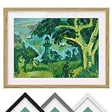 Bild mit Rahmen - Ernst Ludwig Kirchner - Leuchtturm auf