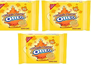 OREO Golden Sandwich Cookies, Limited Edition Maple Flavor Creme 12.2oz Pack of 3