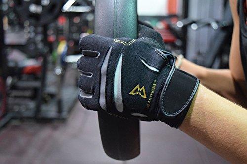 Bionic Gloves Beast Mode Women's Full Finger Fitness/Lifting Gloves w/ Natural Fit Technology, Black, Large (PAIR)
