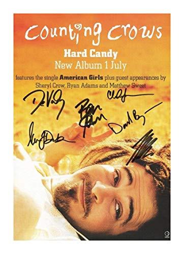 Unbekannt Counting Crows Signiert Autogramme 21cm x 29.7cm Plakat Foto
