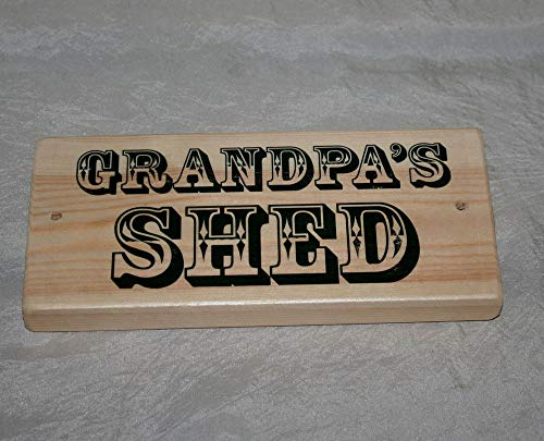 Yohoba Grandad'S Grandpa'S Taid'S Shed Sign Plaque Man Cave Door Wood Home Office