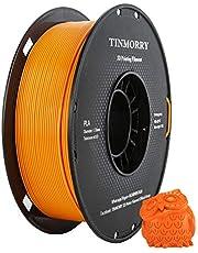 Filament 1,75 mm PLA, TINMORRY Tangle-Free PLA-filament, 3D-printmaterialen, tolerantie bij diameter bedraagt +/- 0,02 mm, 1 kg, 1 spoel, oranje