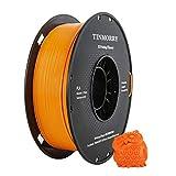 TINMORRY PLA Filamento 1.75 mm, Tangle-Free Filamento para impresora 3D, Tolerancia de diámetro +/- 0.02 mm, Peso neto 1kg 1 carrete, Naranja