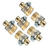 Js-mlx 3sets Manguera de jardín de reparación Mender Kit Conector de Manguera 3/4 Conector Macho Hembra fijado for el jardín de su casa de riego Accesorios de tubería # 40 (Color : Gold)