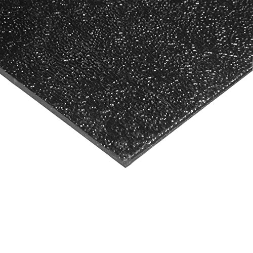 ABS Sheet 1/8' x 24' x 48' - Black (Haircell Textured)