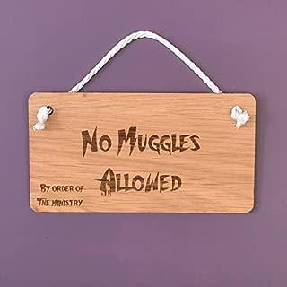 Iliogine Funny Hanging Sign No Muggles Allowed Door Sign Decorative Plaque