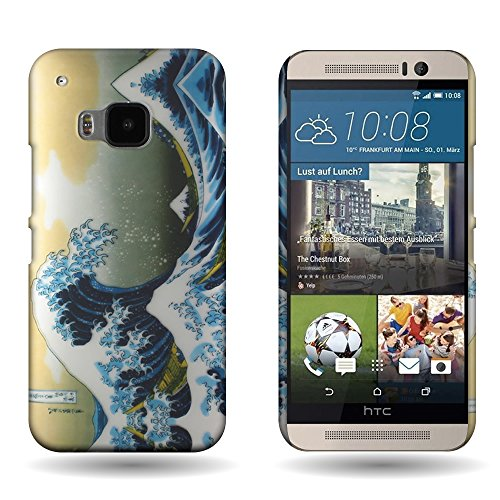 HTC One M9 Case (Great Wave) Unique Design by CoverON [Slender Fit] Series Hard Protective Back Phone Cover
