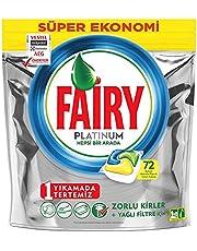 Fairy Platinum 72 Yıkama Bulaşık Makinesi Deterjanı Kapsülü, Limon Kokulu