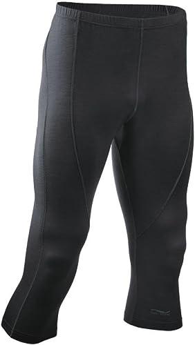Engel Sports Homme 3 4 Leggings, GOTS noir S