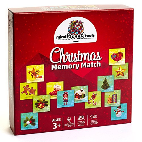 Mind Tools  Christmas Educational Memory Match Game for Toddler Preschool and Kids  Great Memory Matching Card Games for Recognition amp Memory Skills Practice  48 Durable Tiles