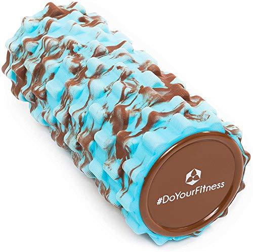 #DoYourFitness® Faszienrolle ca. L 34 cm x D 14 cm | ideal zum Lösen von Verspannungen & Verklebungen des Fasziengewebes - mittelharte Schaumstoffrolle/Massagerolle / »Ishana« braun-blau