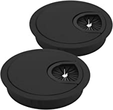 Angoily 2 Stuks Bureaukapjes Zwart Ronde Doorvoergat 60Mm/ 2. 7 Inch Gatafdekkingen Voor Bureauoppervlakken Afdekkingen Vo...