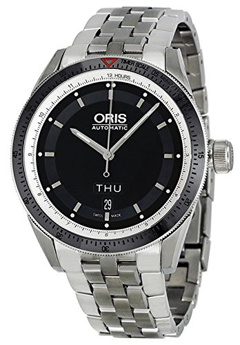 Oris Artix GT Day Date Automatic Stainless Steel Mens Watch Black Dial 735-7662-4154-MB