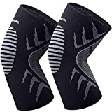 OMERIL Knee Supports, 2 Pack Breathable Knee Compression Sleeves for Men & Women, Knee Support Braces for...
