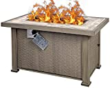 Summerville Propane Gas Fire Fit, 42 inch Outdoor Fire Pits Smokeless 50,000 BTU Auto-Ignition Fire Table with Lava Stone for Patio,Garden,Backyard