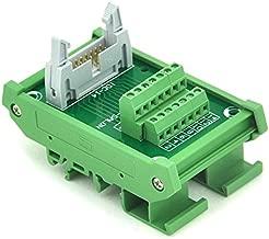 Electronics-Salon IDC-14 DIN Rail Mounted Interface Module, Breakout Board, Terminal Block.