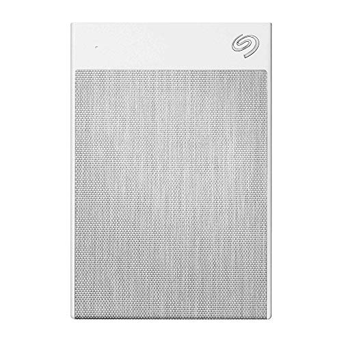Seagate Backup Plus Ultra Touch, 1 TB, USB-C + USB 3.0 Portable External Hard Drive, White, 4 mo Adobe Creative Cloud Photography Plan and Two-yr Rescue Services (STHH1000402)