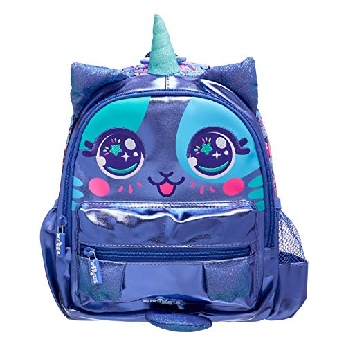 Smiggle Budz Teeny Tiny Nursery Backpack for Girls & Boys with Dual Drink Bottle Sleeves & Name Label | Unicorn Print