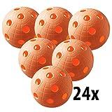 Floorball Unihockey Ball - Set di 24 palloni da calcio da competizione, con certificato IF...