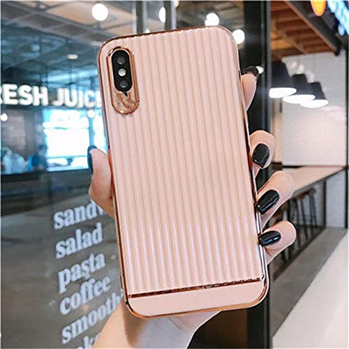 Estuche de Lujo con Textura Estuche parateléfono para iPhone 11 12 Pro MAX XS X XR MAX 7 8 Plus SE 2020 Estuche para teléfono Suave galvanizado, 2, para iPhone 11Pro MAX