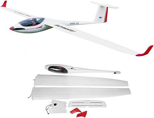Dilwe PNP Flugzeug, Volantex ASW28 759-1 2540mm SpannWeiße EPO Glider RC Flugzeug Flugzeug PNP