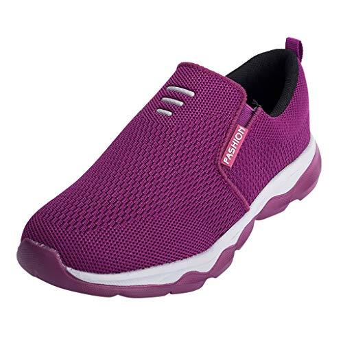 serliy😛Sneaker Damen Laufschuhe Schüler Schuhe Wanderschuhe Runde Toe Turnschuhe Mode Frauen Atmungsaktive Freizeitschuhe Outdoor Sportschuhe Gym Schuhe