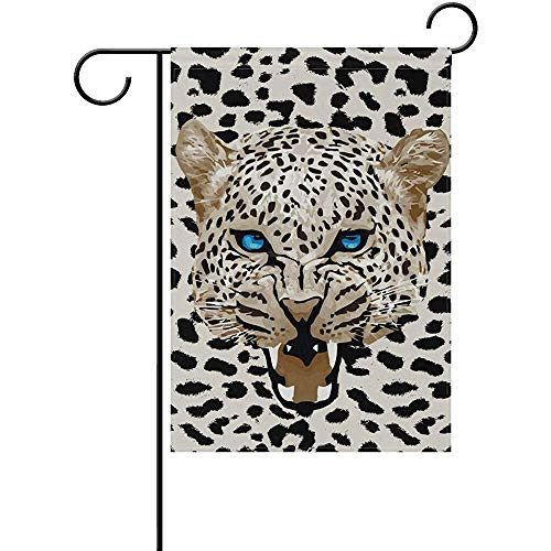 Bandiera da giardino Cool Leopard Yard House Flag Banner Decor Flag per la casa Decorazioni per esterni interni, 70X102 Cm (28X40 In)