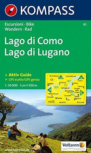 Lago di Como & Lugano 91 GPS D/I kompass (Aqua3 Kompass) by Kompass-Karten (2013-07-13)