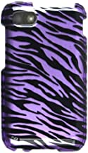 Cell Armor Snap-On Cover for BlackBerry Q5 - Retail Packaging - Transparent Design, Purple Zebra